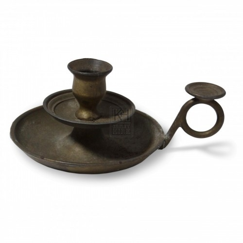 Brass Candleholder with Thumbplate