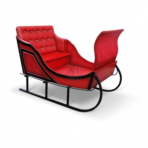 Red Resin Prop Sleigh