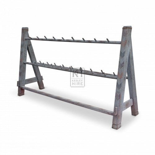 Large Wood Weapons Rack