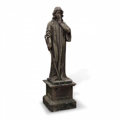 Lady Graveyard Statue on Plinth