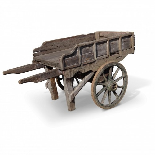 Shaped Side Wooden Handcart
