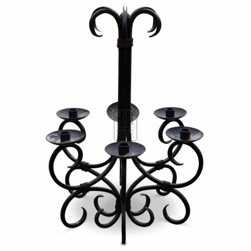 6 Point Iron Chandelier