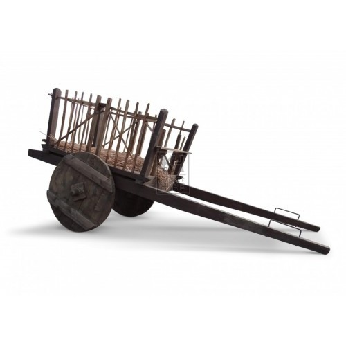 Large Slatted Medieval Horse Cart