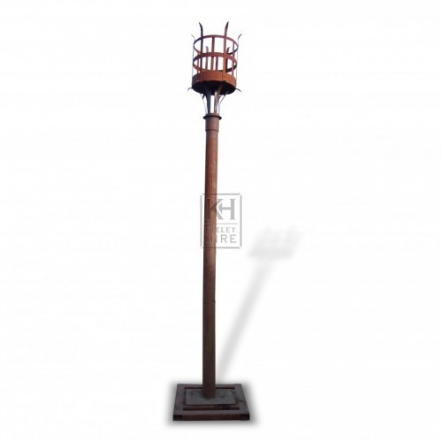 Floorstanding Iron Flambeaux #6