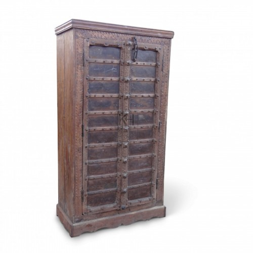 Large Studded Wooden Wardrobe