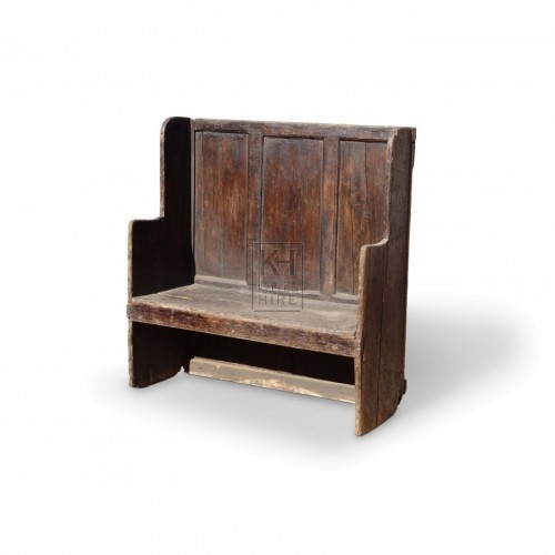 3 Seat High Backed Settle