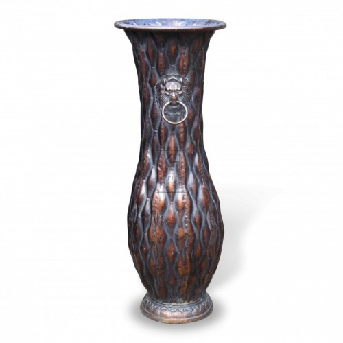 Tall Copper Finish Vase