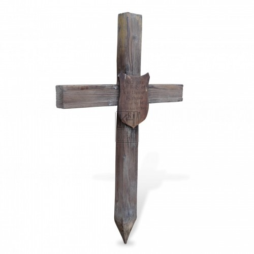 Wooden Cross Gravemarker