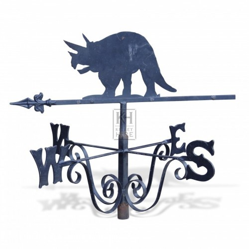 Triceratops Weather Vane