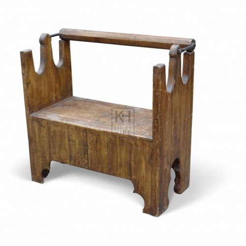 Bar Backed Settle Bench