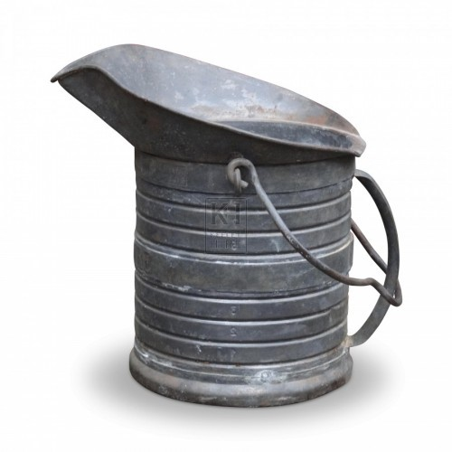 Galvanised Jug Shaped Bucket