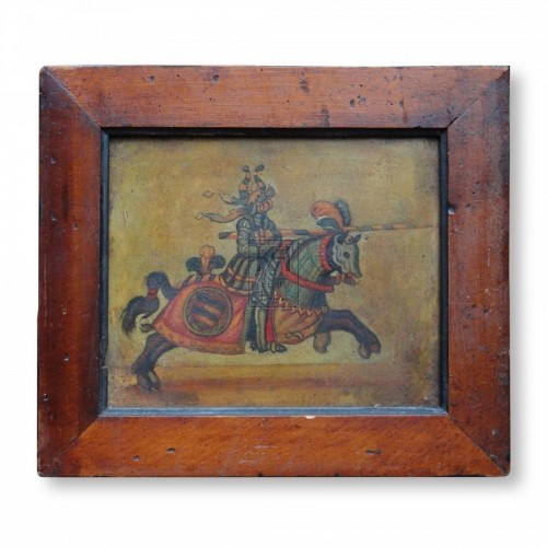 Painting of Jousting Knight