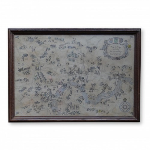 Framed Old Map of Henley