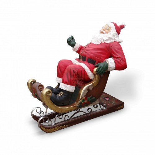 Father Christmas Figure in Sleigh