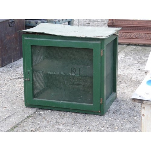 Green Painted Wooden Meat Safe