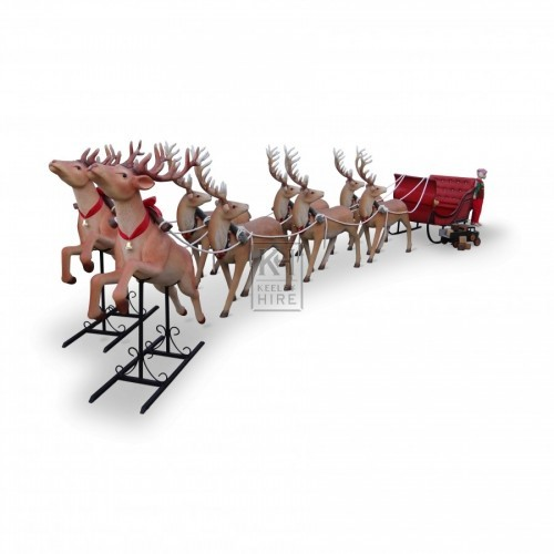Team of Reindeer with Sleigh