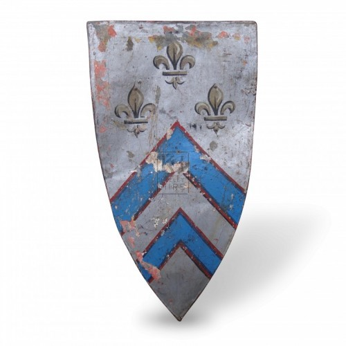 Tall Heater Shield with Heraldry
