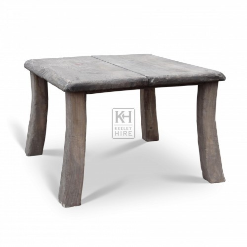 Short Curved Legged Table