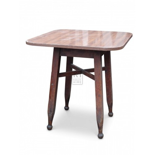 Square Table with Rounded Corners