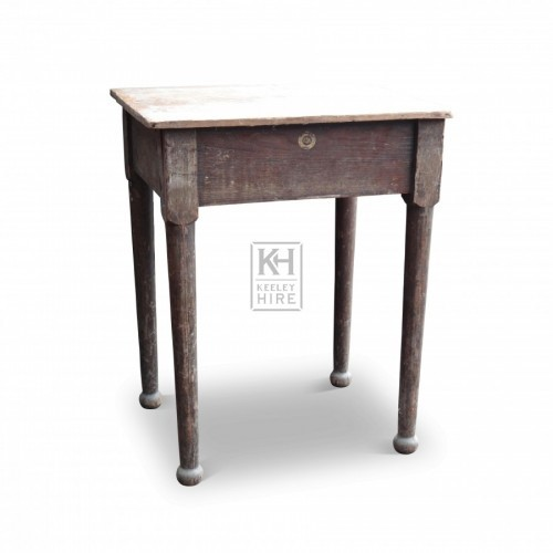 Square Table with Ball Feet
