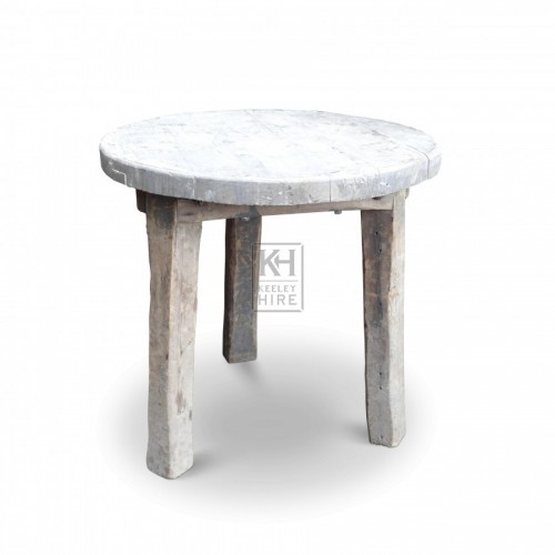 3 Leg Small Round Wooden Table