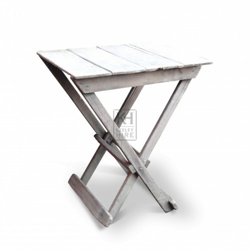 Small Square X Leg Table