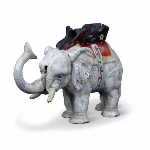 Painted Metal Elephant