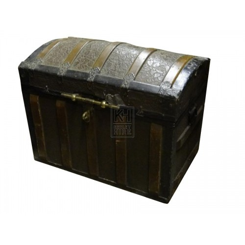 Wooden Chest with Brass