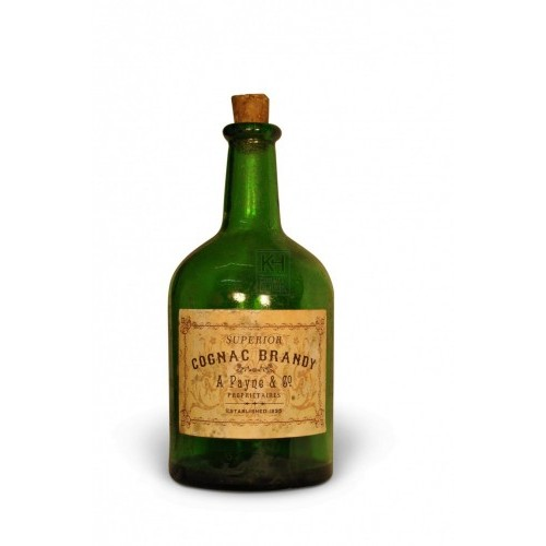 Green glass dumpy bottle
