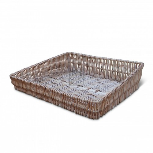 Sloped Wicker Tray Basket