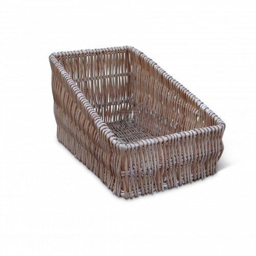 Narrow Wicker Basket Tray