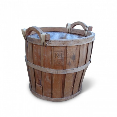 Slatted Basket Bucket