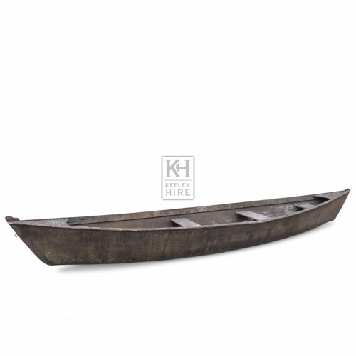 Long Wooden Boat