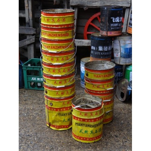 Yellow Tianyanzhenshiqi Metal Bucket
