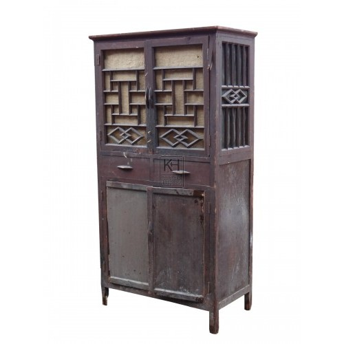 Dark Oriental Detailed Cupboard
