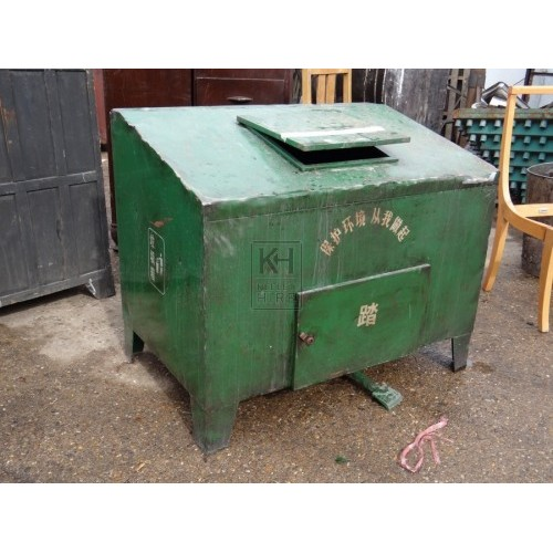Large Green Chinese Bin