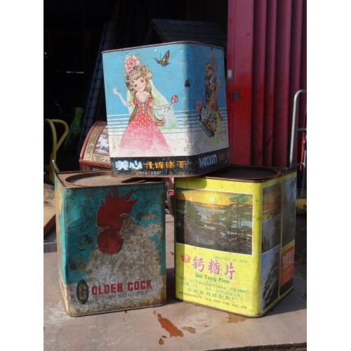 Assorted Chinese Storage Tins