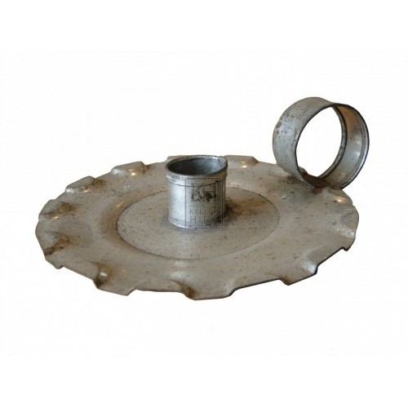 Simple Pressed Metal Candleholder