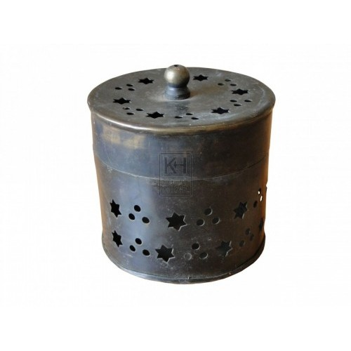 Star Cut Brass Pot