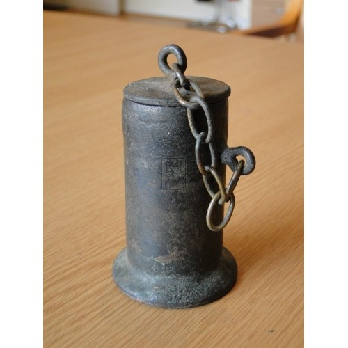 Iron Inkwell with Lid