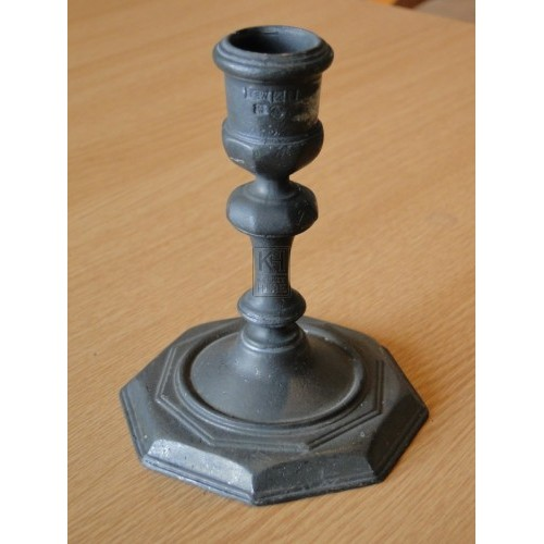 Octagonal Pewter Candlestick
