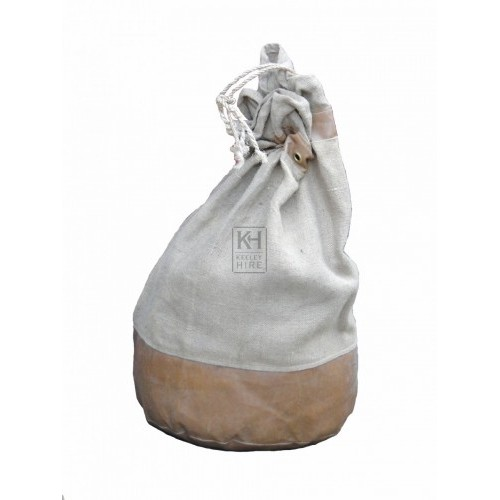 Leather Reinforced Hessian Sack