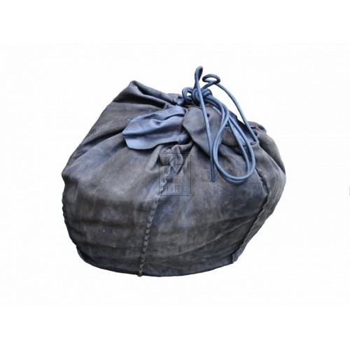 Stitched Leather Drawstring Sack