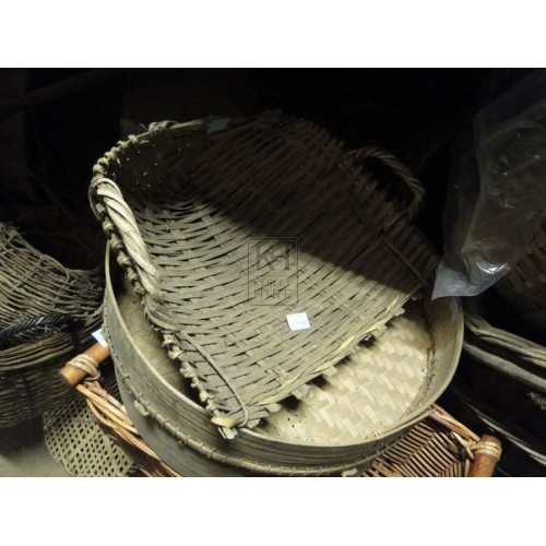 Wicker Basket Scoop