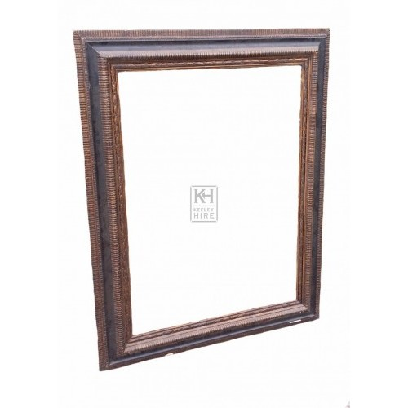 Large Dark Wood carved Picture Frame