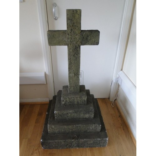 Small Cross on Plinth