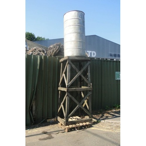 Wood tower construction & galvanised tub