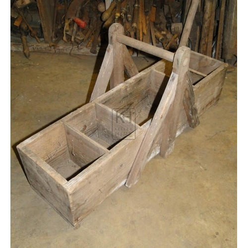Long wood tool box