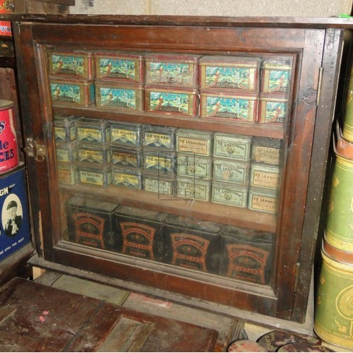 Wood glass cabinet with dressing