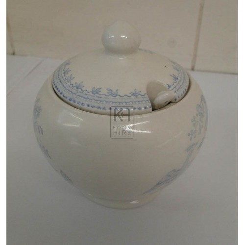 Blue china sugar bowl